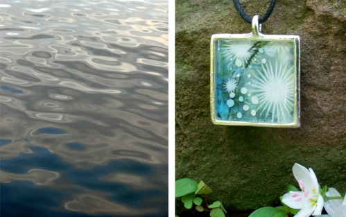 Joy's winning image and the winning necklace!